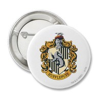 Hufflepuff Crest Pinback Button from Zazzle.com