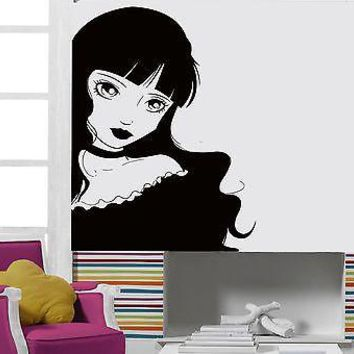 Wall Stickers Vinyl Decal Lolita Girl Teen Gothic Sexy Hot Chick Decor  Unique Gift (z2155)