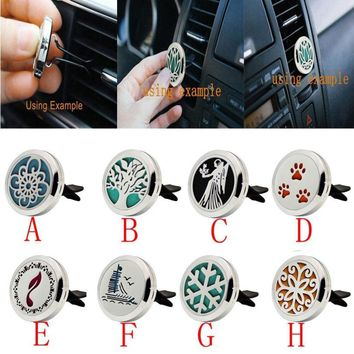 Stainless Car Air Auto Vent Freshener Essential Oil Diffuser Gift Locket Decor_KXL0731