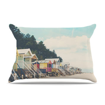 "Laura Evans ""Small Spaces"" Beach Coastal Pillow Case"