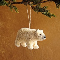 Bottle Brush Ornament - Polar Bear