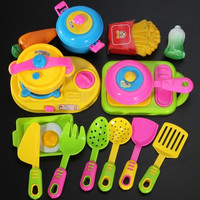 17PCS Children Kids Funny Kitchenware Cookware Food Plastic Toy Kitchen Play Set = 1946082692