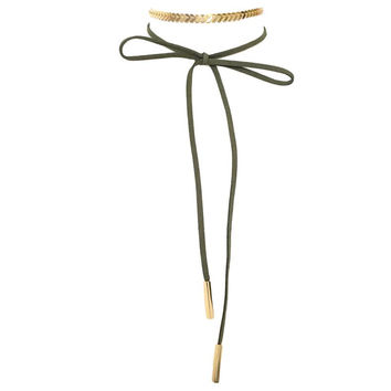 Seize The Day Wrap Necklace in Olive (NEED PRICE)