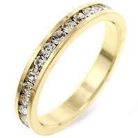 Stylish Stackables Clear CZ Gold Ring