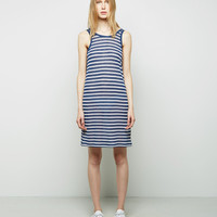 Striped Rayon-Linen Tank Dress by T by Alexander Wang