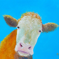 Cow Art For The Kitchen