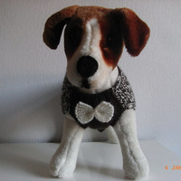 """small dog sweater hand knit 12.5"""" worsted weight, yorkie, mini daschund, jack russell, small dog clothes, hand knit dog clothes, dog coat"""