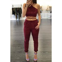 Lace Up Twinset