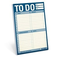 To Do Pad in Blue (Tasks, Errands, Correspondence, Notes)