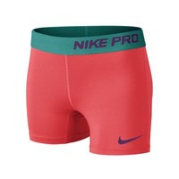 Nike Pro Core Compression Girls' Boyshorts - Laser Crimson