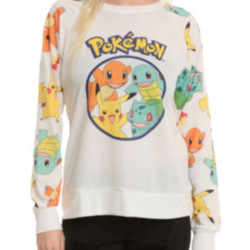 Pokemon Starters Girls Pullover Top