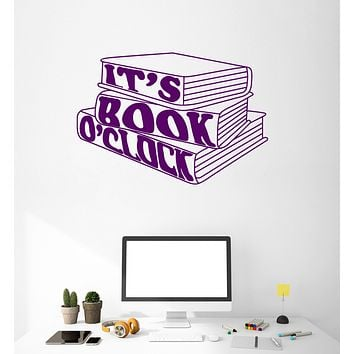 Vinyl Wall Decal Books Quote Booklover Library Reading Room Art Stickers Mural Unique Gift (ig5093)