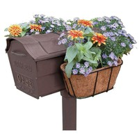 Mailbox Hanging Flower Planter with Coco Mat