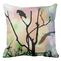 The Lonely Crow Throw Pillow