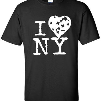 I love ny I heart N Y printed graphic new york city graffiti US USA t-shirt tee shirt Mens Womens Ladies funny banksy obey nyc ML-163