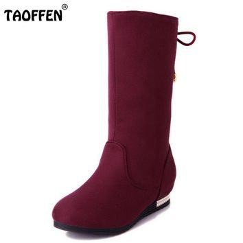 New Women Boots Russia Keep Warm Outdoor Riding Boots Women's Fur Boots Winter Waterproof Snow Boots Shoes Size 34-44