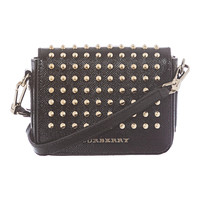 Burberry Studded London Leather Berkeley Crossbody Bag