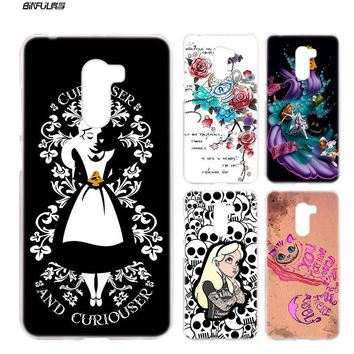 BiNFUL Alice in Wonderland punk For Xiaomi Pocophone F1 6.18 inches Hard Plastic Clear phone Case Shell