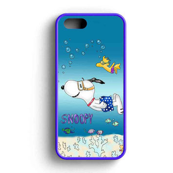 Snoopy Swimming iPhone 5 Case iPhone 5s Case iPhone 5c Case