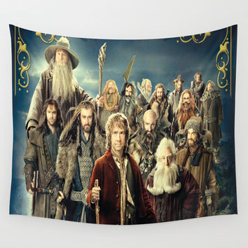 the hobbit duvet cover,lord of the rings, Wall Tapestry by Anne
