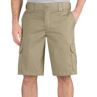 "Dickies - 556 Desert Sand Regular Fit 11"" Cargo Shorts"