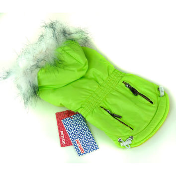 Puppy Dog Hoodies Fur Trimmed Dog Hoodie Candy Color Puppy Cat Warm Coat Waterproof Pet CostumeWX
