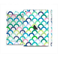 The Vibrant Fun Colored Pattern Hoops Full Body Skin Set for the Apple iPad Mini 2