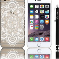 iphone 6 Case , FiveBox Henna Full Mandala Floral Dream Catcher Clear Transparent Plastic Case Cover for iphone 6 4.7 Inch