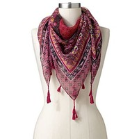Manhattan Accessories Co. Paisley Tassel Square Scarf