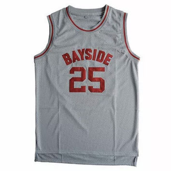 Zach Morris Bayside Tigers Throwback #25 Jersey