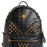 MCM 'Studded - Large' Coated Canvas Backpack | Nordstrom