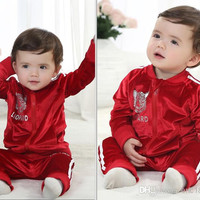 New Arrival 2014 Baby Toddler Clothing Leopard High Quality Pleuche long-sleeved Outdoor Sports Suit Outfits For Spring/Autumn 4set/lot