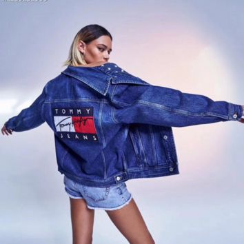 Tommy Hilfiger Women Denim Cardigan Jacket Coat G