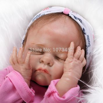 NEW Solid  silicone reborn baby doll for girls  simulation  super good tounch  brinquedos juguetes lifelike toy