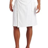 Majestic International Men's Basic Terry Velour Wrap Pajama Bottom, White, One Size
