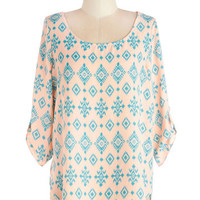 ModCloth Pastel Mid-length 3 Sunday in Sedona Top