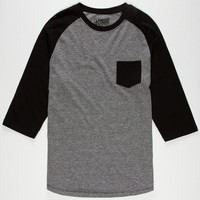 Retrofit End On End Mens Baseball Tee Black  In Sizes