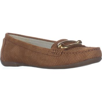 Anne Klein Noris Penny Loafer Flats, Light Cognac, 5.5 US