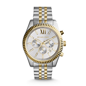 MICHAEL KORS WATCH  MEN MENS LEXINGTON STAINLESS STEEL MK8344