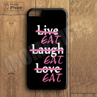 Funny Live Love Laugh Case Cute Food Case For iPhone 6 Plus For iPhone 6 For iPhone 5/5S For iPhone 4/4S For iPhone 5C3 iPhone X 8 8 Plus