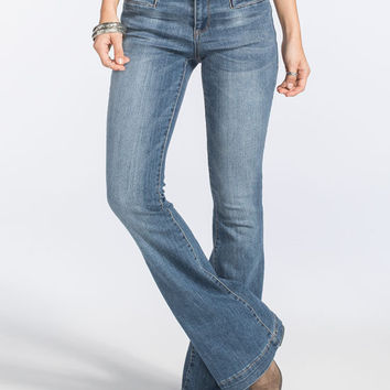 Evermore Womens Flare Jeans Medium Blast  In Sizes