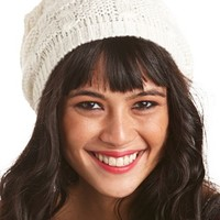 TEXTURED LUREX KNIT BEANIE