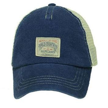 LMFONS Polo Ralph Lauren Polo Country 1967 Blue Mesh Slouch Relax Adjustable Hat Cap