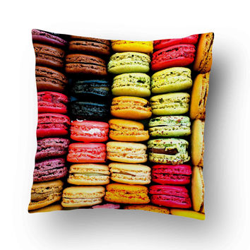 Macaron Laduree Pillow Cover