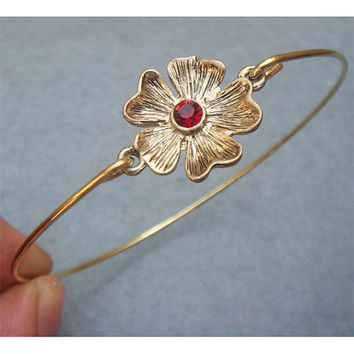 Flower Brass Bangle Bracelet Style 8 by turquoisecity on Etsy