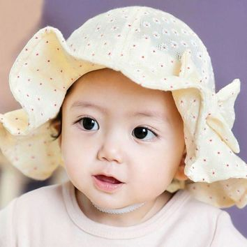PEAP78W Cotton Blends Baby Hat Toddler Infant Sun Cap Summer Outdoor Baby Girl Floral  Hats Sun Beach Bucket Hat 2017