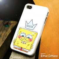 Spongebob Queen iPhone 4 5 5c 6 Plus Case, Samsung Galaxy S3 S4 S5 Note 3 4 Case, iPod 4 5 Case, HtC One M7 M8 and Nexus Case