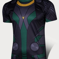 Deep Gray Loki Printed T-Shirt