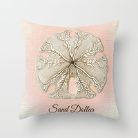 SAND DOLLARS Throw Pillow by Digital Effects