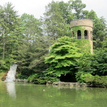 Rapunzel Tower 8X10 Photo, Longwood Gardens Chime Tower, French Architecture, Fairy Tale Art, Fantasy Photography, Enchanted Forest Art,